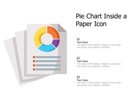 Pie Chart Inside A Paper Icon
