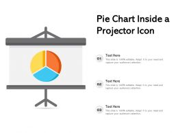 Pie Chart Inside A Projector Icon