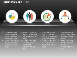 Pie Chart Leadership Business Target Analysis Organizational Chart Ppt Icons Graphics