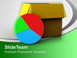 Pie Chart Out Of Box Business Concept Powerpoint Templates Ppt Themes And Graphics 0313