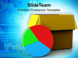 Pie Chart Out Of Box Marketing Business Powerpoint Templates Ppt Themes And Graphics 0113