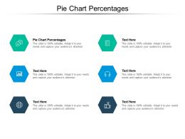 Pie Chart Percentages Ppt Powerpoint Presentation Pictures Design Templates Cpb
