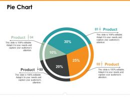 Pie Chart Ppt Icon Example Introduction