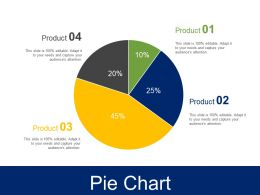 Pie Chart Ppt Infographic Template