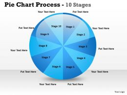 Pie Chart Process 10 Stages 4