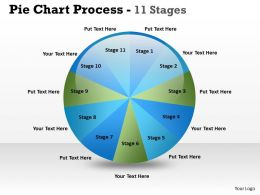 Pie Chart Process 11 Stages 3