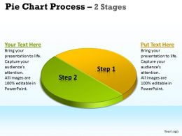Pie Chart Process 2 Stages 1