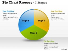 Pie Chart Process 3 Stages 1