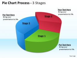 Pie Chart Process 3 Stages