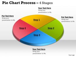 Pie Chart Process 4 Stages 6