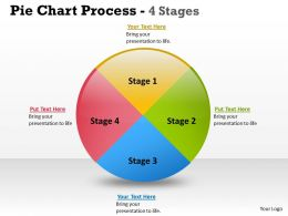Pie Chart Process 4 Stages 7