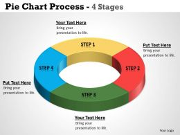 Pie Chart Process 4 Stages 8