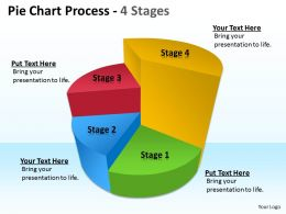 Pie Chart Process 4 Stages