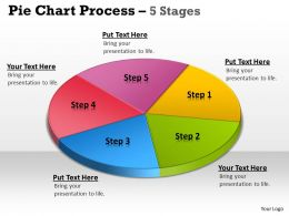 Pie Chart Process 5 Stages 6