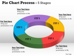 Pie Chart Process 5 Stages 8