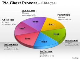 Pie Chart Process 6 Stages 5