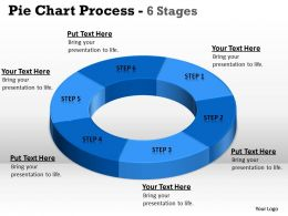 Pie Chart Process 6 Stages 6