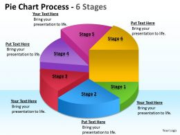 Pie Chart Process 6 Stages