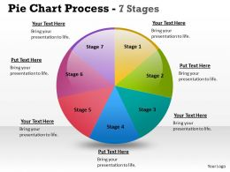Pie Chart Process 7 Stages 8