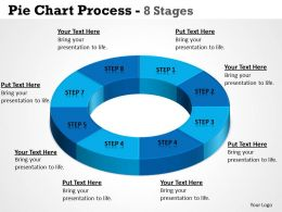 Pie Chart Process 8 Stages circular templates 5