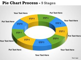 Pie Chart Process 9 Stages 2
