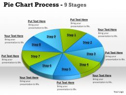 Pie Chart Process 9 Stages 4