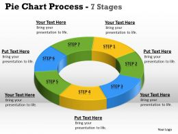 Pie Chart Process circular 7 Stages 3