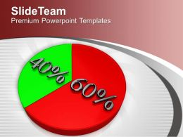 Pie Chart Represents Statistics Marketing Powerpoint Templates Ppt Themes And Graphics 0313