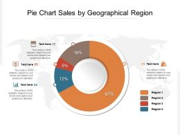 Pie Chart Sales By Geographical Region