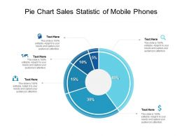 Pie Chart Sales Statistic Of Mobile Phones