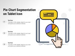 Pie Chart Segmentation On Tablet Icon