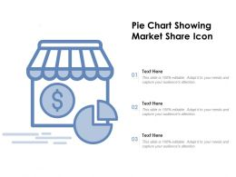 Pie Chart Showing Market Share Icon