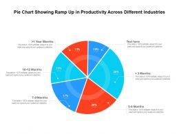 Pie Chart Showing Ramp Up In Productivity Across Different Industries