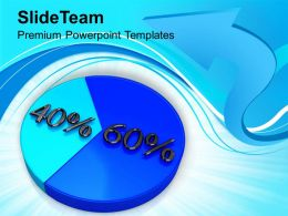 Pie Chart With 60 40 Percentage Marketing PowerPoint Templates PPT Themes And Graphics 0213