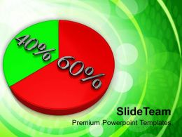 Pie Chart With 60 40 Percentage Success PowerPoint Templates PPT Themes And Graphics 0213