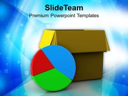 Pie Chart With Box Growth Finance PowerPoint Templates PPT Themes And Graphics 0213