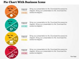 Pie Chart With Business Icons Flat Powerpoint Design