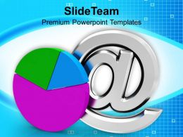 Pie Chart With E Mail Sign Internet PowerPoint Templates PPT Themes And Graphics 0213