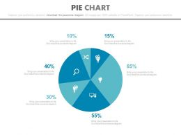 Pie Chart With Financial Value Calculation Powerpoint Slides