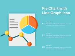 Pie Chart With Line Graph Icon