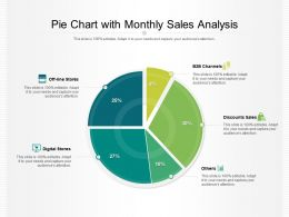Pie Chart With Monthly Sales Analysis