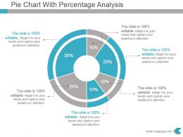 Pie Chart With Percentage Analysis Ppt Template Slide