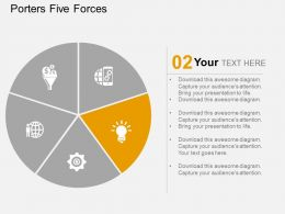 pie_chart_with_process_indication_icons_flat_powerpoint_design_Slide03