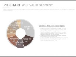 Pie Chart With Seven Staged Value Segment Powerpoint Slides