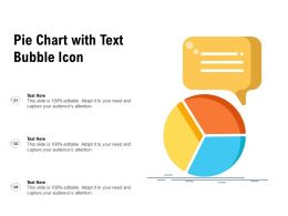 Pie Chart With Text Bubble Icon