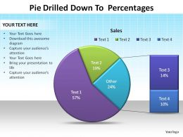 pie drilled down to percentages ppt slides diagrams templates powerpoint info graphics
