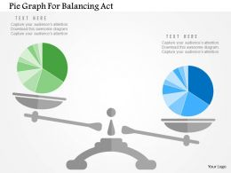 Pie Graph For Balancing Act Flat Powerpoint Design