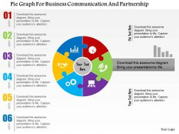 Pie Graph For Business Communication And Partnership Flat Powerpoint Design