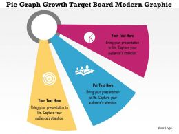 Pie Graph Growth Target Board Modern Graphic Flat Powerpoint Design