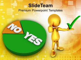 Pie Showing Yes No Marketing Powerpoint Templates Ppt Themes And Graphics 0113